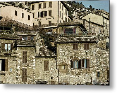 Hotel Giotto Metal Print by John Hix