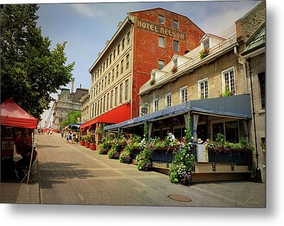 Hotel Nelson - Place Jacques Cartier Metal Print by Maria Angelica Maira