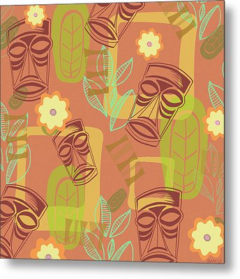 Hour At The Tiki Room Metal Print by Little Bunny Sunshine