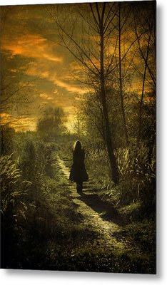 Hour Of Long Shadows Metal Print by Cambion Art