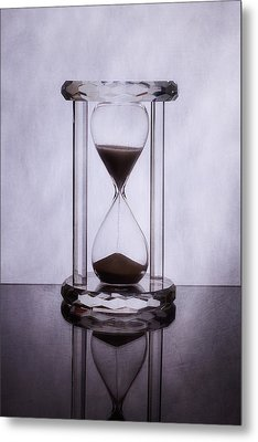 Hourglass - Time Slips Away Metal Print