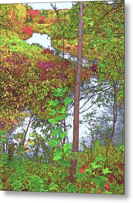 Housatonic River 2 - New England Metal Print by Steve Ohlsen