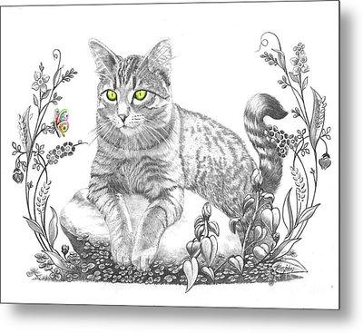 House Cat Metal Print by Murphy Elliott
