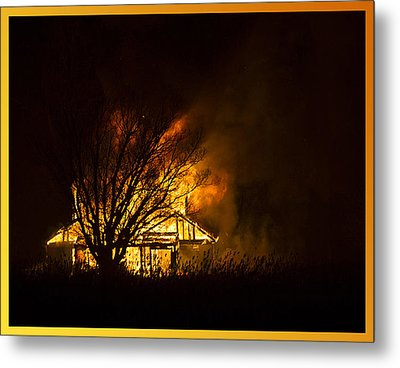 House Fire Metal Print