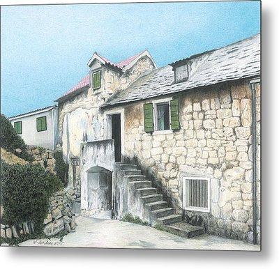House In Split Croatia Metal Print by Wilfrid Barbier