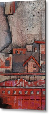 House In The City  Metal Print