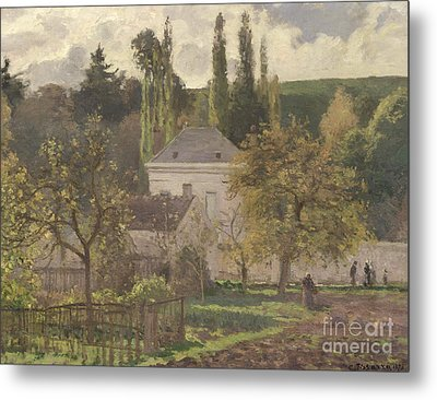 House In The Hermitage Metal Print by Camille Pissarro