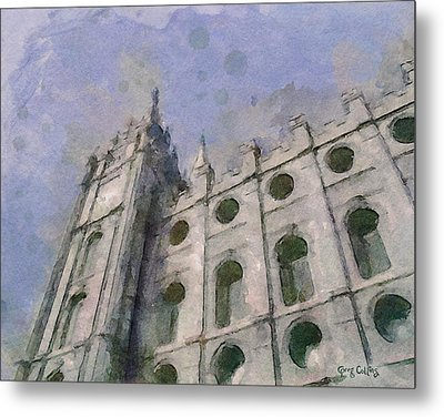 Metal Print featuring the painting House Of Faith by Greg Collins