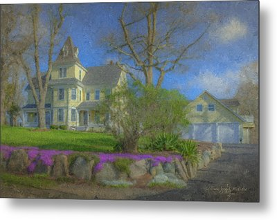 House On Elm St., Easton, Ma Metal Print by Bill McEntee