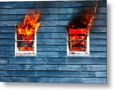 House On Fire Metal Print by Todd Klassy