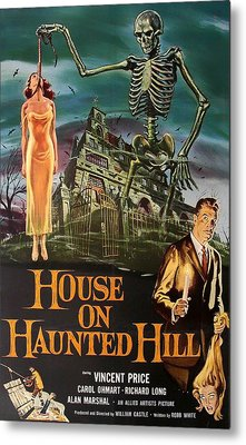 House On Haunted Hill 1958 Metal Print