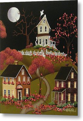 House On Haunted Hill Metal Print by Catherine Holman