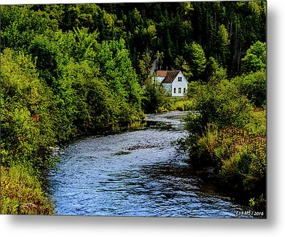 House On Margaree River Metal Print by Ken Morris