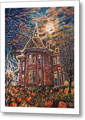 House On Pumpkin Hill Metal Print by William Vanya