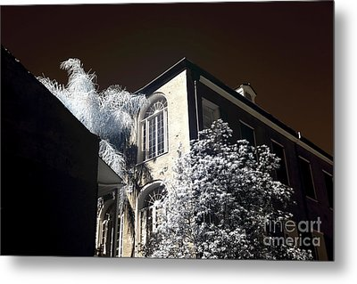 House On The Corner Infrared Metal Print by John Rizzuto