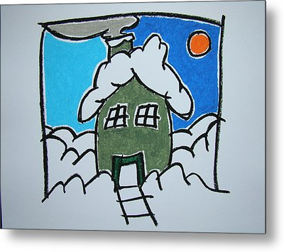House On The Edge Of Town Metal Print by Pat  Lackenbauer