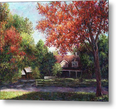 House On The Hill Metal Print by Susan Savad