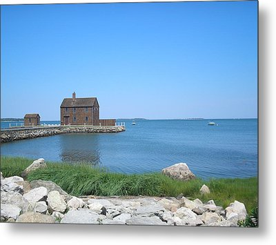 House On The Point Metal Print by Valerie Bruno