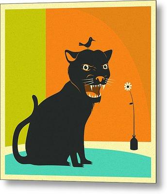 House Panther Metal Print