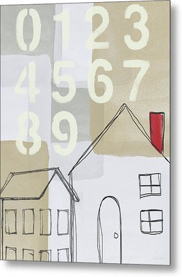 House Plans 3- Art By Linda Woods Metal Print by Linda Woods