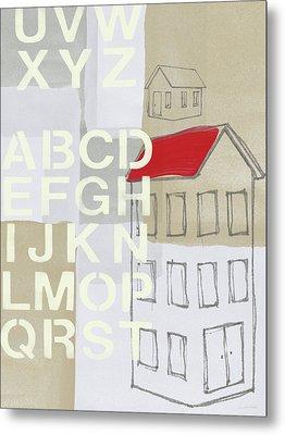 House Plans- Art By Linda Woods Metal Print