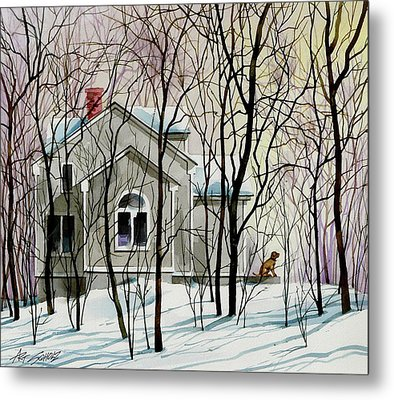 House Sitting Metal Print by Art Scholz