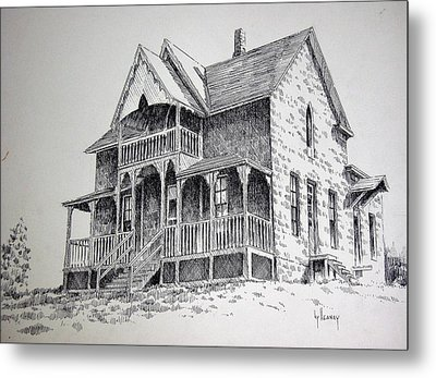 House Virginia City Montana Metal Print by Kevin Heaney