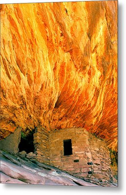 House With The Flaming Roof Metal Print