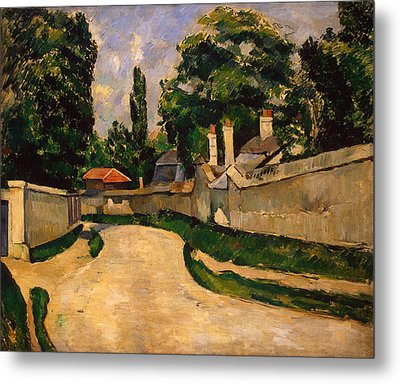 Houses Along A Road Metal Print by Paul Cezanne