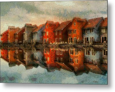 Houses By The Sea Metal Print by Kai Saarto