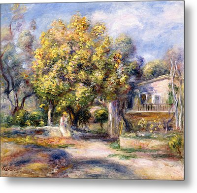 Houses In Cagnes Metal Print by Pierre Auguste Renoir