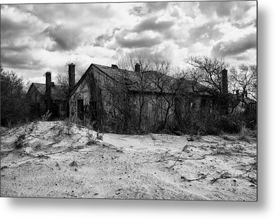 Houses In The Dunes Metal Print by H James Hoff