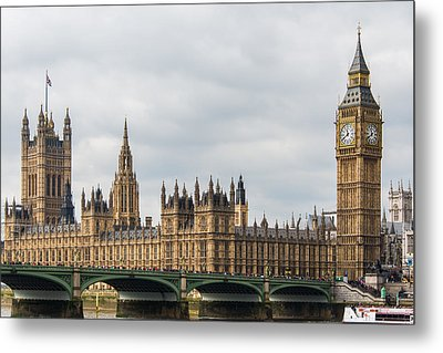 Houses Of Parliament In London Metal Print by AMB Fine Art Photography