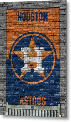 Houston Astros Brick Wall Metal Print