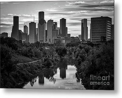Houston Bayou View Bw Metal Print by Tod and Cynthia Grubbs