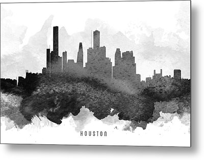 Houston Cityscape 11 Metal Print by Aged Pixel