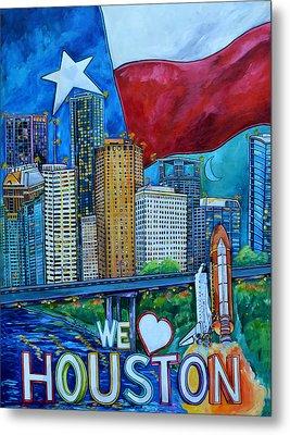 Houston Montage Metal Print by Patti Schermerhorn