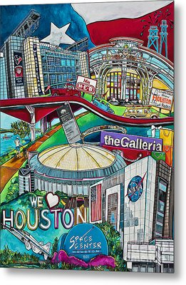 Houston Montage Two Metal Print