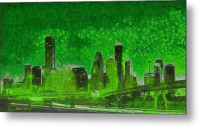 Houston Skyline 51 - Da Metal Print
