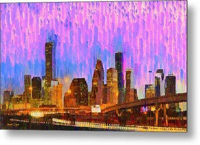 Houston Skyline 93 - Pa Metal Print