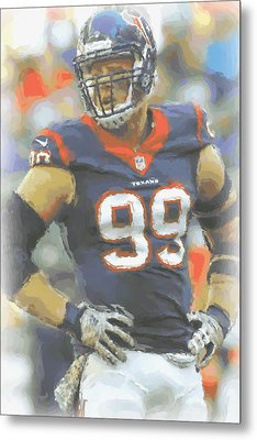 Houston Texans Jj Watt 2 Metal Print by Joe Hamilton