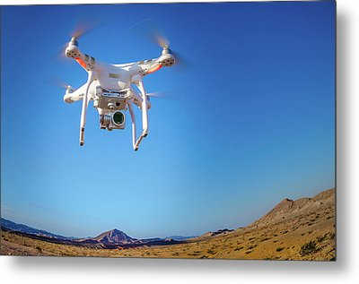 Hover Metal Print by Mark Dunton