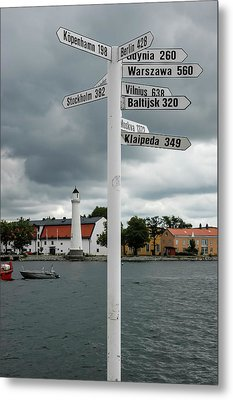 How Far From Karlskrona Sweden To Elsewhere Metal Print