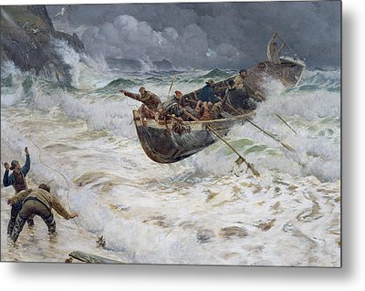 How The Boat Came Home Metal Print