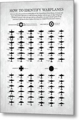 How To Identify Warplanes Metal Print by Mark Rogan