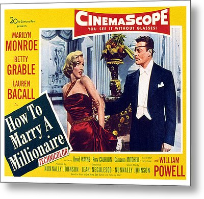 How To Marry A Millionaire, Marilyn Metal Print
