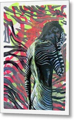 Rising From Ashes Zebra Boy Metal Print
