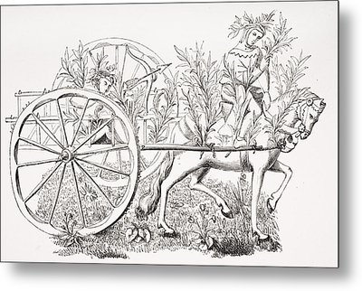 How To Take A Cart To Allure Beasts Metal Print by Vintage Design Pics