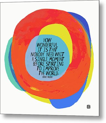 Metal Print featuring the painting How Wonderful by Lisa Weedn