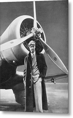 Howard Hughes, Us Aviation Pioneer Metal Print by Science, Industry & Business Librarynew York Public Library